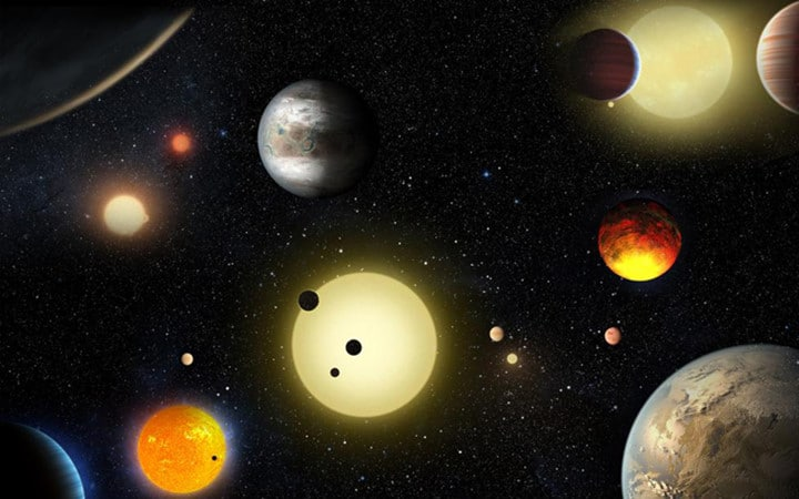 quan sát các hành tinh thông qua kính thiên văn